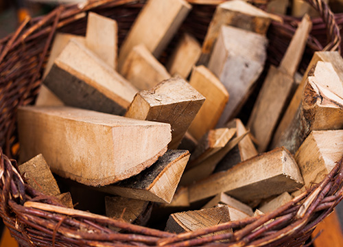 Panier bois chauffage